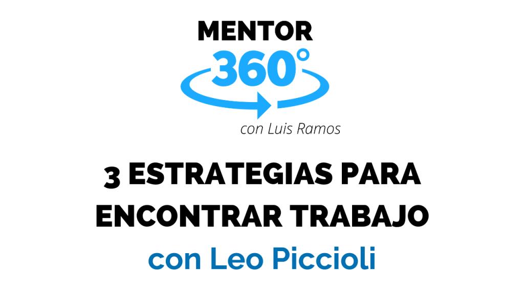 3 Estrategias para Encontrar Trabajo - MENTOR360 - 003 sq