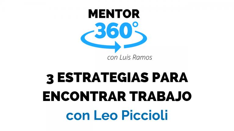 3 Estrategias para Encontrar Trabajo | MENTOR360